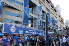 Toronto Blue Jays. Toronto fans line up for a baseball (blue jays) game Royalty Free Stock Image