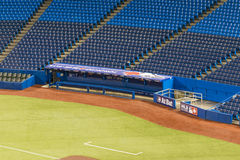Toronto bluejay home ball park. Totonto blue jay players pit in the ball park Royalty Free Stock Photo