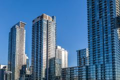 """Toronto, Canadá †do """"arranha-céus altos do apartamento 4 de dezembro de 2018 foto de stock"""