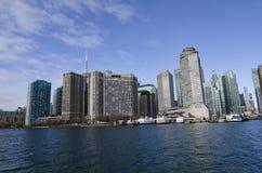 Toronto, Canadá - 27 de enero de 2016: Horizonte del lago, Ontario, Canadá de Toronto Fotos de archivo