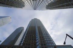 Toronto, Canadá - 27 de enero de 2016: Rascacielos en Toronto céntrico, distrito financiero Fotografía de archivo libre de regalías
