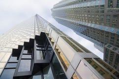 Toronto, Canadá - 27 de enero de 2016: Rascacielos en Toronto céntrico, distrito financiero fotos de archivo libres de regalías