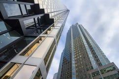 Toronto, Canadá - 27 de enero de 2016: Rascacielos en Toronto céntrico, distrito financiero Foto de archivo libre de regalías