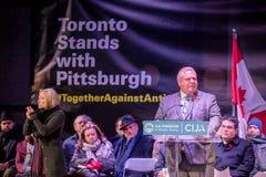 Free Toronto, Canada. 29th October: Toronto Jewish Community Vigil For Victims Of Pittsburgh Synagogue Massacre At Mel Lastman Square Stock Photography - 158610652