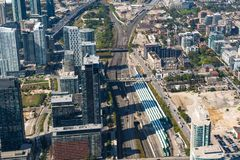 Toronto, Canada: Aerial View of the city downtown Royalty Free Stock Images