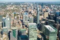 Toronto, Canada: Aerial View of the city downtown Stock Photo