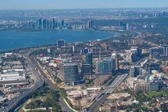 Toronto, Canada: Aerial View of the city downtown Stock Images