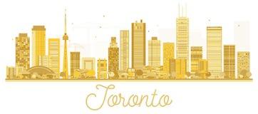 Toronto Canada City skyline golden silhouette. Vector illustration. Business travel concept. Toronto Cityscape with landmarks Royalty Free Stock Photos