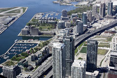 Toronto, Canada dalla CN-torretta Fotografia Stock Libera da Diritti