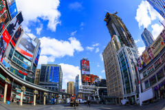 Toronto   Canada. TORONTO,CANADA - FEB 5 2016: Yonge-Dundas Square in Toronto, Canada. Yonge- Dunda Square is a commercial, and public square, hosts many events Royalty Free Stock Image