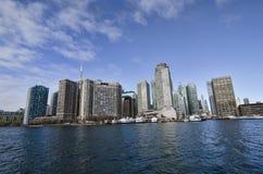Toronto, Canada - 27 gennaio 2016: Orizzonte dal lago, Ontario, Canada di Toronto immagine stock