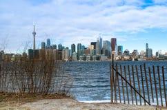 Toronto, Canada - Januari 27, 2016: De Horizonmening van Toronto van aan Stock Foto