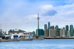 Toronto, Canada - Januari 27, 2016: De Horizonmening van Toronto van aan Stock Fotografie