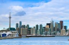 Toronto, Canada - Januari 27, 2016: De Horizonmening van Toronto van aan Royalty-vrije Stock Afbeelding