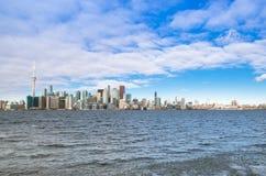 Toronto, Canada - Januari 27, 2016: De Horizonmening van Toronto van aan Stock Afbeeldingen