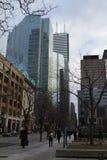 Toronto, Canada - Januari 27, 2016: Toronto de stad in, mensen wal Stock Foto's