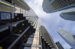 Toronto, Canada - January 27, 2016: Skyscrapers in Downtown Toronto, Financial district Stock Images