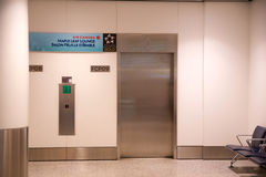TORONTO, CANADA - 21 janvier 2017 : intérieur d'aéroport, salon de feuille d'érable d'Air Canada à l'ascenseur d'aéroport de YYZ Photographie stock