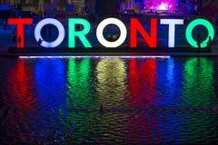 TORONTO CANADA-JULY 9,2015: Den nya Toronto undertecknar in Nathan Phill Arkivbild