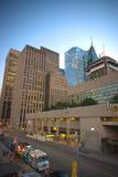 TORONTO CANADA-JULY 9,2015: En sikt av i stadens centrum toronto, thien Arkivfoton