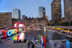 TORONTO,CANADA-JULY 9,2015: The new Toronto sign in Nathan Phill royalty free stock photography
