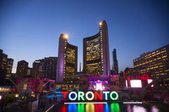TORONTO,CANADA-JULY 9,2015: The new Toronto sign in Nathan Phill