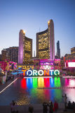 TORONTO,CANADA-JULY 9,2015: The new Toronto sign in Nathan Phill Stock Image