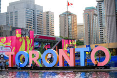 TORONTO, CANADA-JULY 9,2015: Panoramablick des neuen Toronto-Si Lizenzfreie Stockbilder
