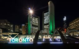 Toronto, ON, Canada June 17 2016 Nathan Phillips Square new City stock photography