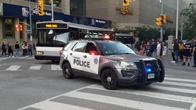 Police car in Toronto royalty free stock photo