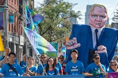 Toronto, Canada: Labour Day Parade 2018. Toronto, Canada-September 3, 2018: Labour Day Parade celebration in the capital city of Ontario. The event is organized royalty free stock image