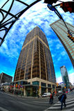 Yonge en Bloor in Toronto Stock Foto
