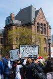 Toronto, Canada - Maart voor Wetenschapsdemonstratie bij Queenspark Stock Foto