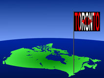 Toronto on Canada map Royalty Free Stock Image