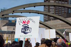 Toronto, Canada - March for Science Protesters Wifi Sign Stock Photography