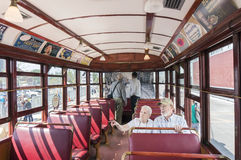 TORONTO, CANADA - MAY 28, 2016: interior Toronto TTC 1923 vintag Royalty Free Stock Photos