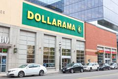 Dollarama Store in Toronto, Canada stock images