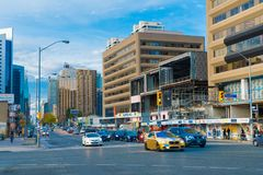Toronto, Canada: Yonge Street and Sheppard Ave. intersection Royalty Free Stock Image