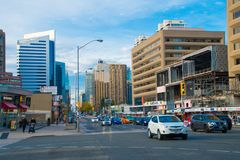 Toronto, Canada: Yonge Street and Sheppard Ave. intersection Royalty Free Stock Photo