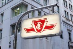 Toronto Subway Sign royalty free stock image