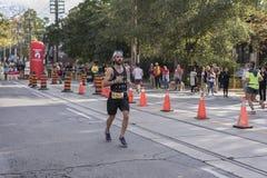 TORONTO, ON/CANADA - OCT 22, 2017: Maratońskiego biegacza Justin passin Zdjęcia Royalty Free