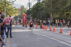 TORONTO, ON/CANADA - OCT 22, 2017: Maratońskiego biegacza Robert passin Obrazy Royalty Free