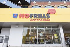No Frills grocery store in Toronto, Canada royalty free stock images
