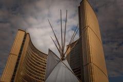 Toronto, CANADA - October 10, 2018: Toronto Sign City Hall Nathan Phillips Square, Toronto Royalty Free Stock Image