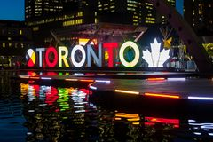 Toronto, CANADA - October 10, 2018: Toronto Sign City Hall Nathan Phillips Square, Toronto