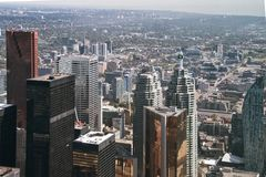 Toronto, Canada: Aerial View of the city downtown Royalty Free Stock Photo