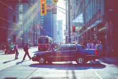 TORONTO, CANADA - SEPTEMBER 17, 2018: Rush hour atToronto`s busi royalty free stock image