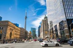 TORONTO, CANADA - SEPTEMBER 17, 2018: Rush hour atToronto`s busi royalty free stock images