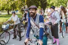 Toronto, Canada - September 20, 2014: Tweed Ride Royalty Free Stock Photo