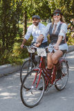 Toronto, Canada - September 20, 2014: Tweed Ride. Toronto, Canada - September 20, 2014: Unidentified participants of Tweed Ride Toronto riding on their bicycles royalty free stock photo
